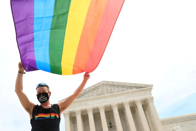 FILE PHOTO: U.S. Supreme Court rules that a federal law banning workplace discrimination also covers sexual orientation in Washington