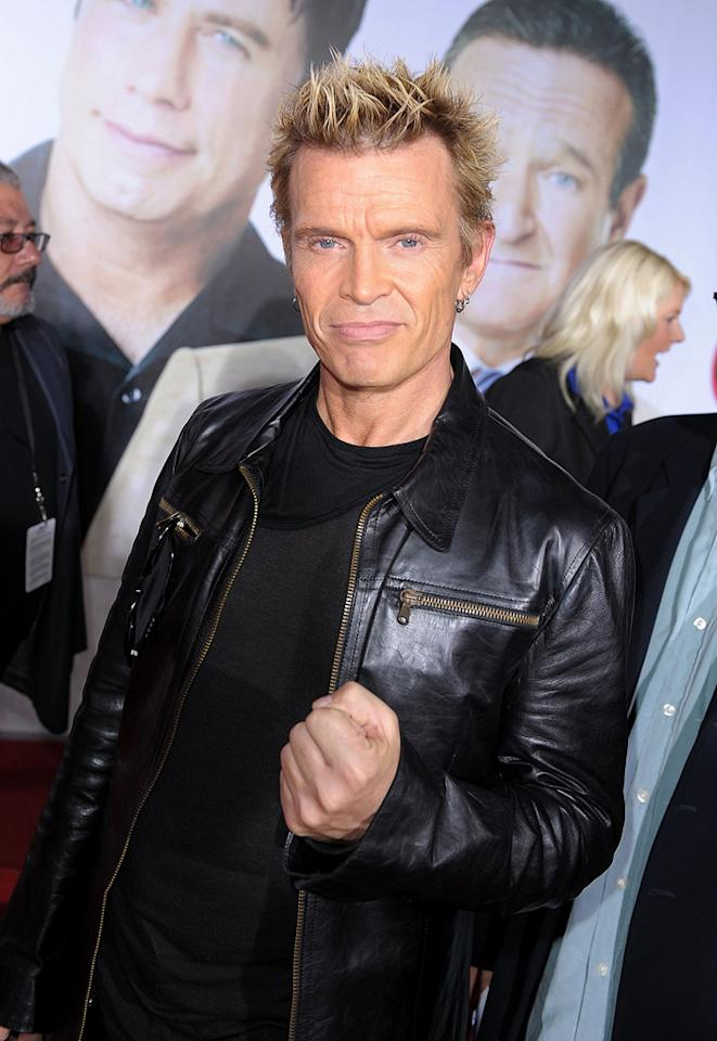 """<a href=""""http://movies.yahoo.com/movie/contributor/1800036692"""">Billy Idol</a> at the Los Angeles premiere of <a href=""""http://movies.yahoo.com/movie/1809918087/info"""">Old Dogs</a> - 11/09/2009"""