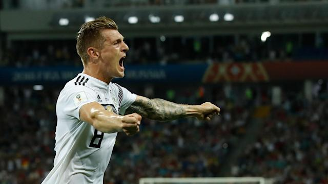 Day 10 of the 2018 World Cup ended with a wonder strike from Toni Kroos to give Germany a win over Sweden. FC Yahoo's Ryan Bailey recaps that win and the rest of the Day 10 action in Saturday's World Cup 90.