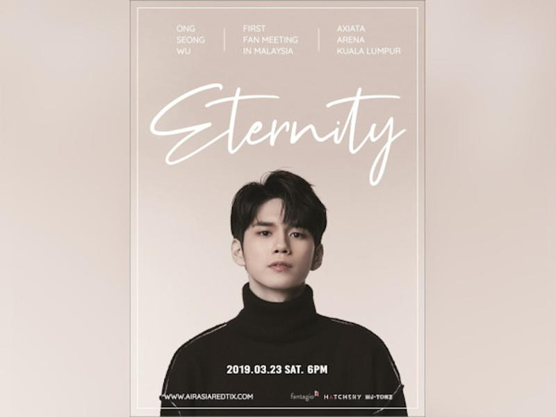 Ong Seong Wu will be holding his first solo fan meet in Malaysia next month.