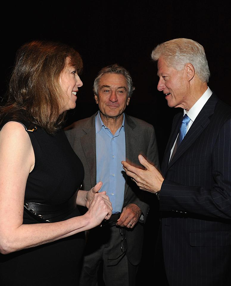 "Robert De Niro, Jane Rosenthal and Bill Clinton attend ""Bridegroom"" Premiere during the 2013 Tribeca Film Festival at SVA Theater on April 23, 2013 in New York City."