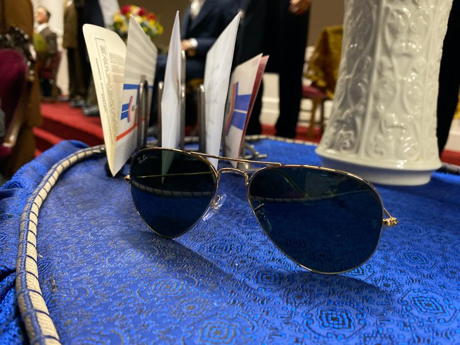 A pair of President Biden's favored aviator sunglasses will be part of the new display at the Hall of Presidents in August (Photo: Disney Parks Blog)