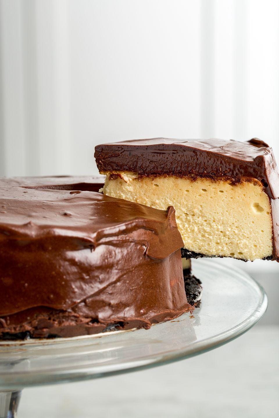 """<p>This fudgy cheesecake deserves to be eaten way beyond St. Patty's Day.</p><p>Get the recipe from <a href=""""/cooking/recipe-ideas/recipes/a46303/baileys-cheesecake-recipe/"""" data-ylk=""""slk:Delish"""" class=""""link rapid-noclick-resp"""">Delish</a>.</p>"""
