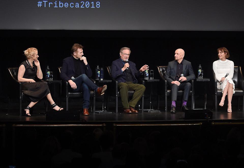 """At the 25th anniversary screening of <em>Schindler's List</em>, Steven Spielberg recalls feeling """"resentment and anger"""" at having to make the Holocaust drama and <em>Jurassic Park</em> simultaneously. (Photo: Getty Images)"""