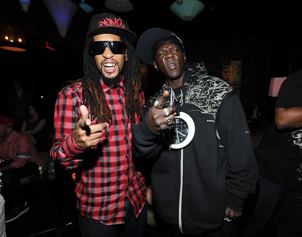 """Wonder if Lil Jon was getting advice from Flavor Flav, who's got plenty of experience when it comes to reality TV! David Becker/<a href=""""http://www.wireimage.com"""" target=""""new"""">WireImage.com</a> - March 6, 2011"""