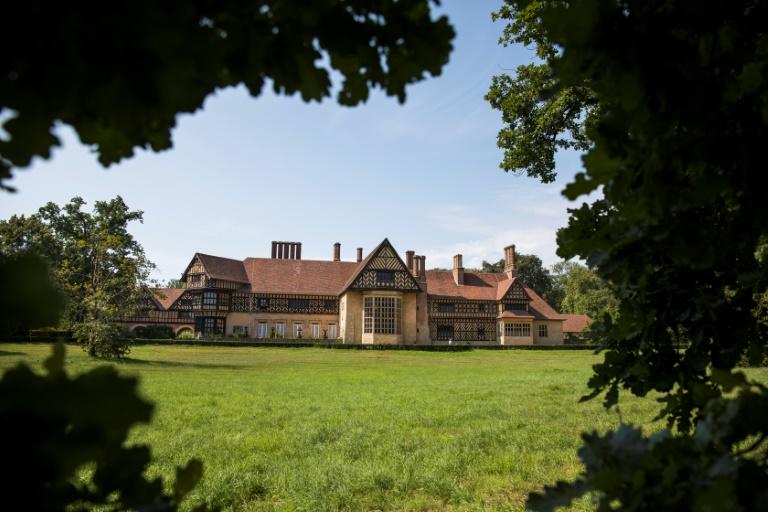 Cecilienhof Palace, the Tudor-style mansion, which was the last Prussian palace built by the Hohenzollerns, hosted the 1945 Potsdam Conference where victorious Allied leaders decided the shape of the post-war world (AFP Photo/Odd ANDERSEN)