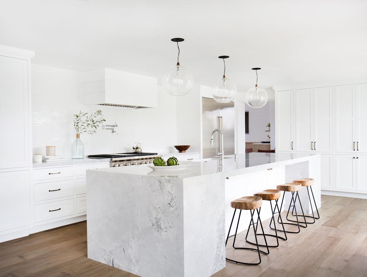 "<p>White kitchens are classic. They're bright, clean, and don't require a lot of stressful color decisions when decorating (because literally, everything is white).  But white doesn't have to equal boring. We've got some inspiration for you from some <a rel=""nofollow"" href=""http://www.housebeautiful.com/room-decorating/kitchens/g623/beautiful-designer-kitchens"">insanely cool kitchens</a>, and we promise no matter what your decorating style, you'll find something on this list you like.</p>"