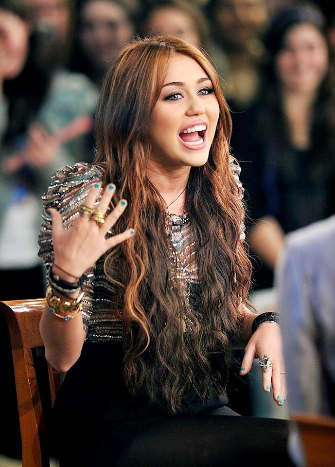 """<a href=""""http://www.gossipcop.com/miley-cyrus-lol-ashley-greene-heat/"""" target=""""new"""">Gossip Cop</a> looks into a report Miley Cyrus has been barred from hanging out with a certain """"Twilight"""" starlet. See who it is, and whether the story's fact or fiction. James Devaney/<a href=""""http://www.wireimage.com"""" target=""""new"""">WireImage.com</a> - March 22, 2010"""