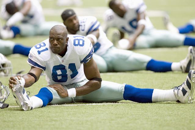 44-year-old Hall of Fame wide receiver Terrell Owens posted a video to Instagram on Monday afternoon of him running a 40-yard-dash in just 4.43 seconds. (Getty Images)