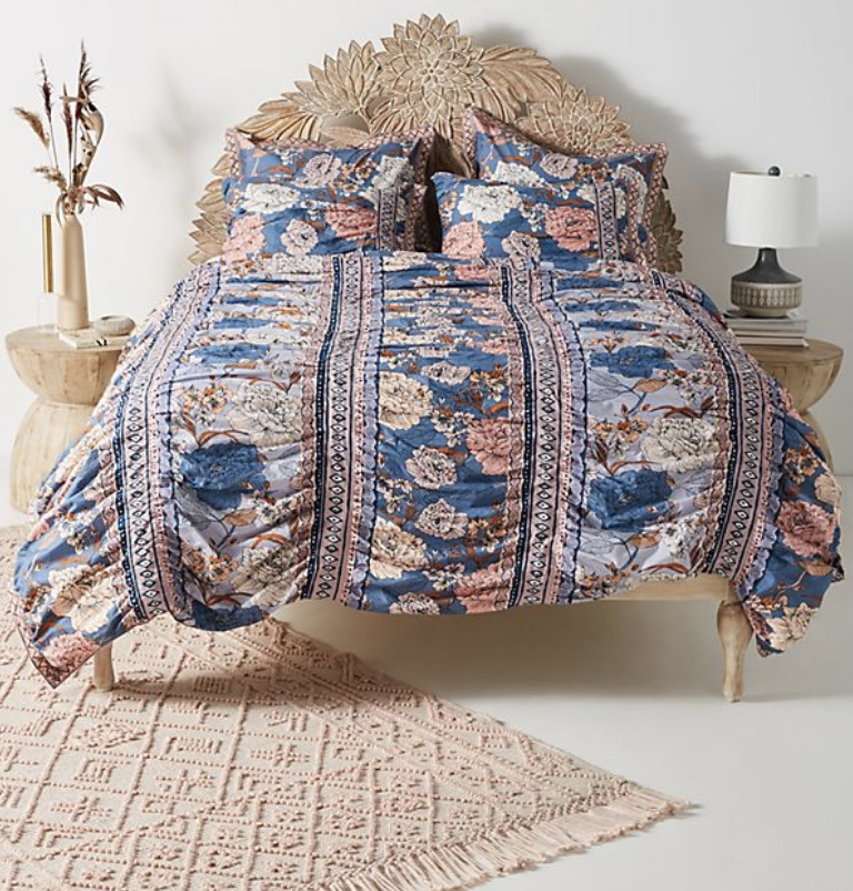 Majorelle Duvet Cover. (Photo: Anthropologie)