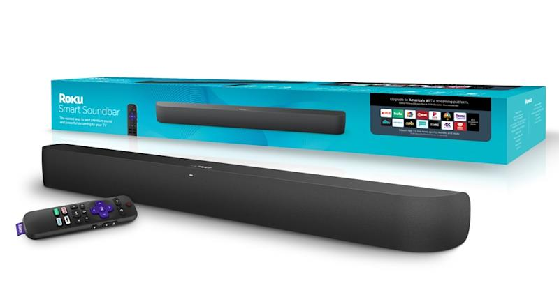 The Roku Smart Soundbar starts at $179 and features a built-in Roku streaming player. (Image: Roku)