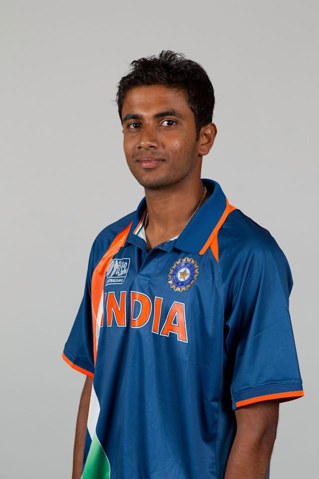 BRISBANE, AUSTRALIA - AUGUST 06: Rush Kalaria of India poses during a ICC U19 Cricket World Cup 2012 portrait session at Allan Border Field on August 6, 2012 in Brisbane, Australia. (Photo by Matt King-ICC/Getty Images)