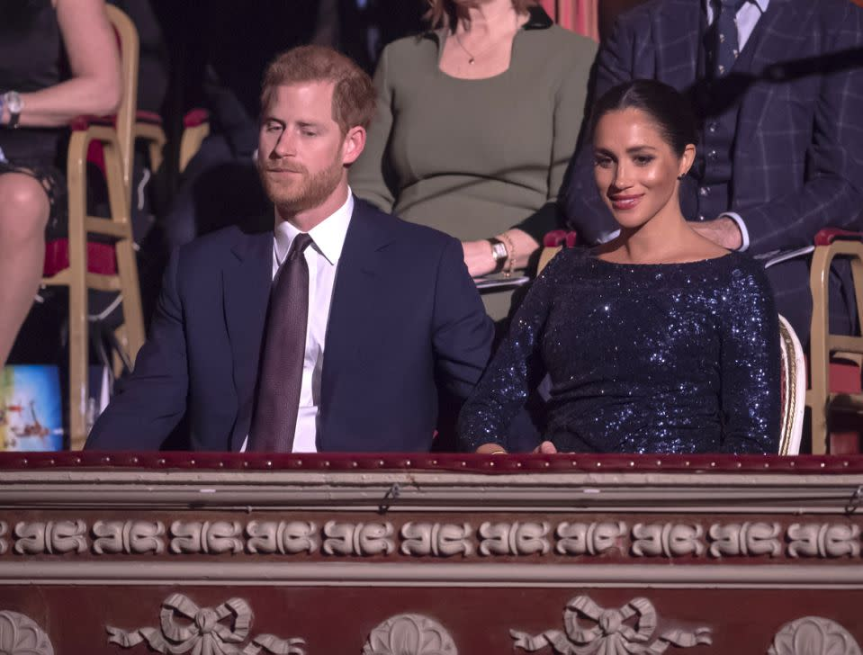 Prinz Harry, Herzog von Sussex, und Meghan, Herzogin von Sussex, am 16. Januar 2019 bei einer Veranstaltung in der Royal Albert Hall, London, England. (Foto: Paul Grover - WPA Pool/Getty Images)