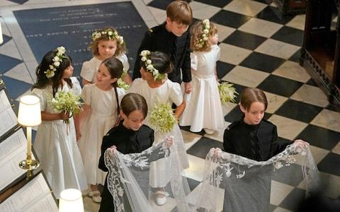 Bridesmaids and Page Boys during the wedding ceremony of Prince Harry and Meghan Markle in St George's Chapel at Windsor Castle - Credit: Owen Humphreys/PA