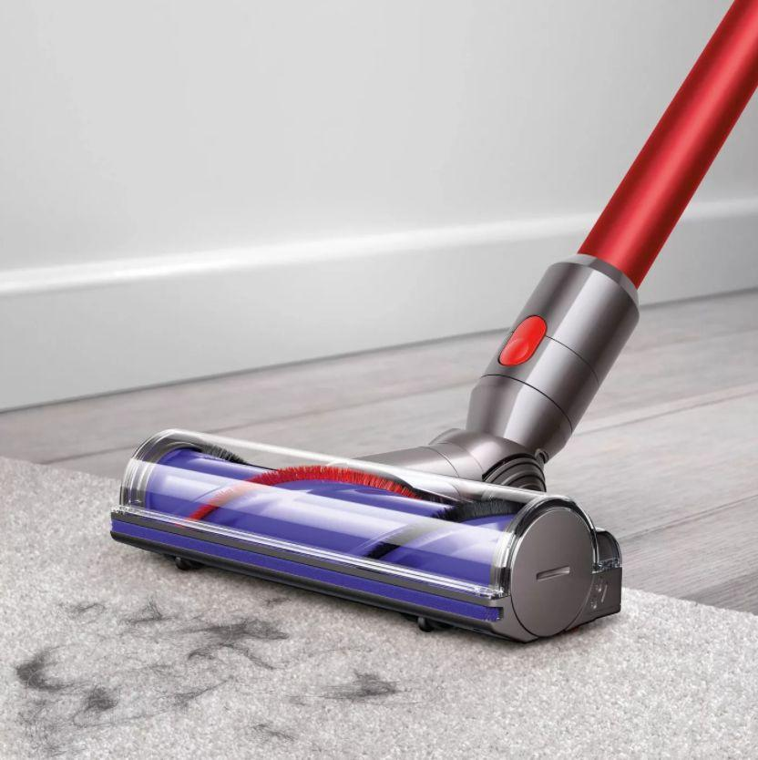 "If you're in a small space, this lightweight Dyson vacuum just might be what you need. It won't take up much room but has strong suction to deep-clean carpets and hardwood floors. You can convert it to a handheld as well. <a href=""https://goto.target.com/c/2055067/81938/2092?u=https%3A%2F%2Fwww.target.com%2Fp%2Fdyson-v8-motorhead-origin-cordfree-vacuum%2F-%2FA-79531083%23lnk%3Dsametab&subid1=5&subid2=primedaytargetdeals&subid3=primeday20"" target=""_blank"" rel=""noopener noreferrer"">Originally $380, get it now for $300 at Target</a>. You can also find this Dyson that's designed to clean pet hair on sale at <a href=""https://fave.co/3jNTom5"" target=""_blank"" rel=""noopener noreferrer"">Walmart</a>."