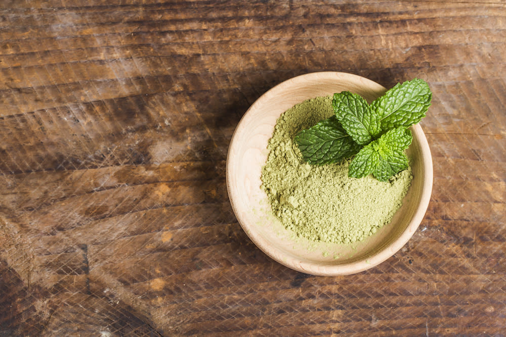 <p>Since its already in powdered form, matcha green tea is a handy ingredient for a tea face mask. This green tea is loaded with antioxidants, which rid your skin of toxins, boosting blood circulation. It is also good for those with acne-prone skin as it helps decrease sebum production. Other benefits include stimulation and rejuvenation of skin cells.<br /> Mix 1 tablespoon of matcha green tea powder with ½ teaspoon of honey and mix thoroughly. If you have dry skin, add a bit of olive oil. Apply all over the face, avoiding the eyes and lips. Let sit for around 10 minutes and wipe off with a wet facecloth.<br /> Photograph: Dashu83 / Freepik </p>