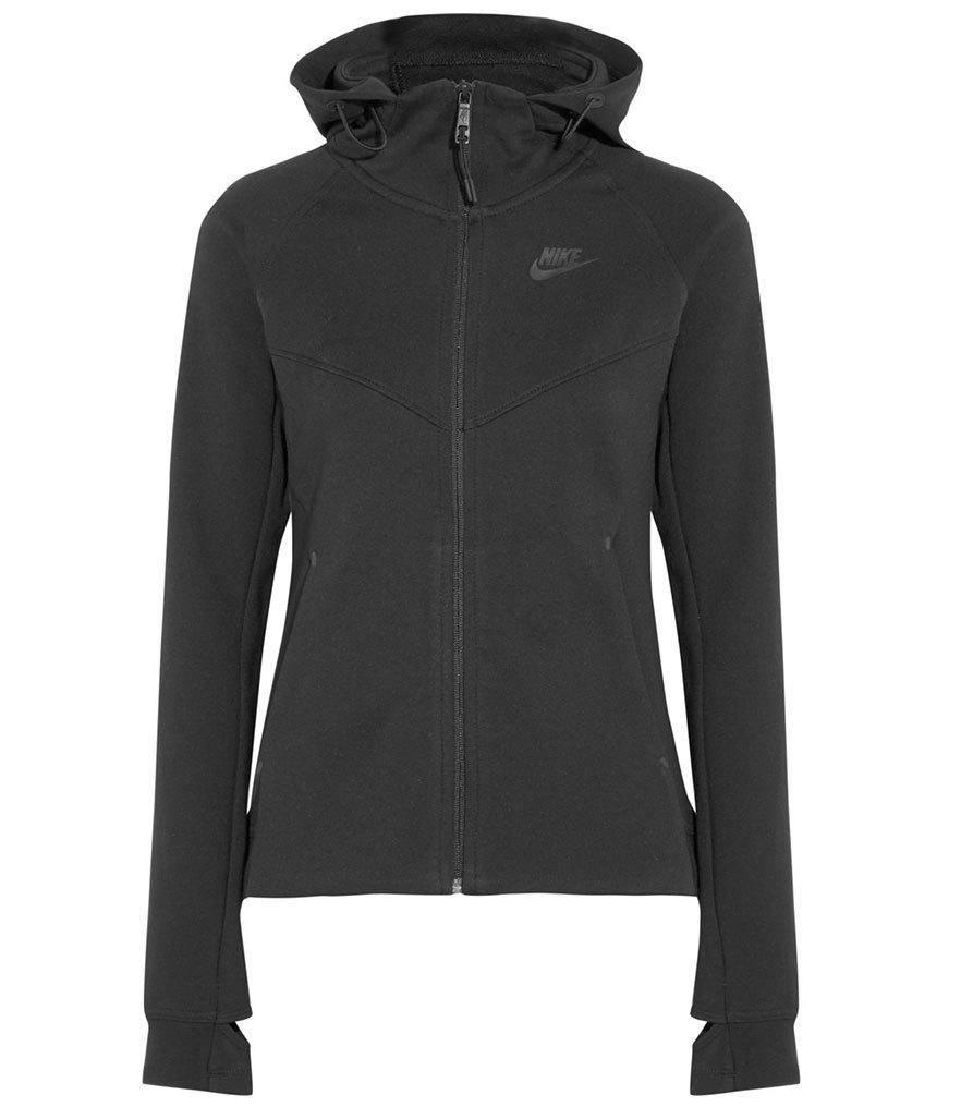 "<p>Nike Tech Fleece Windrunner Cotton-Blend Jersey Hooded Top, $120, <a href=""http://www.net-a-porter.com/us/en/product/615379/Nike/tech-fleece-windrunner-cotton-blend-jersey-hooded-top"" rel=""nofollow noopener"" target=""_blank"" data-ylk=""slk:net-a-porter.com"" class=""link rapid-noclick-resp"">net-a-porter.com</a><br><br></p>"