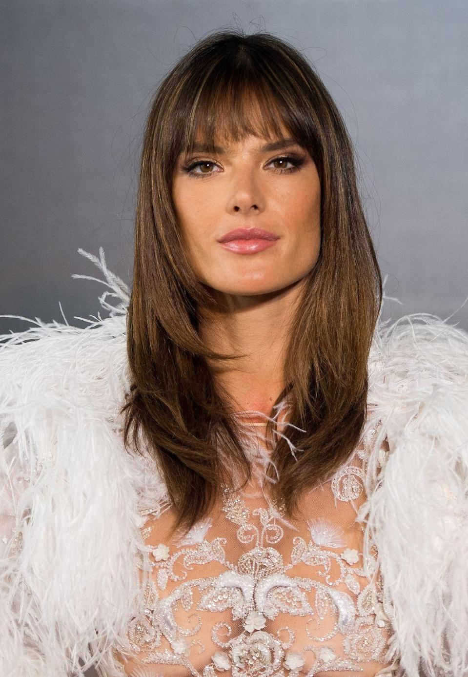 <p>Alessandra has had a fringe for a long time and we reckon it possibly looks its best in a high pony. The layered look she's sporting has a certain 'supermodel-of-the90s' look about it, which we're not complaining about.</p>