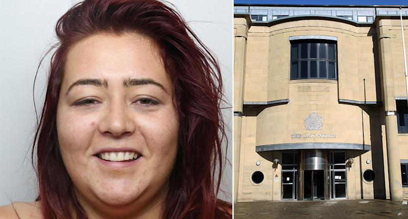 Ellie Burns was sentenced at Bradford Crown Court to 20 months in prison