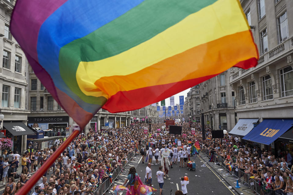 Pride Parade in London in 2017 [Photo: Getty]