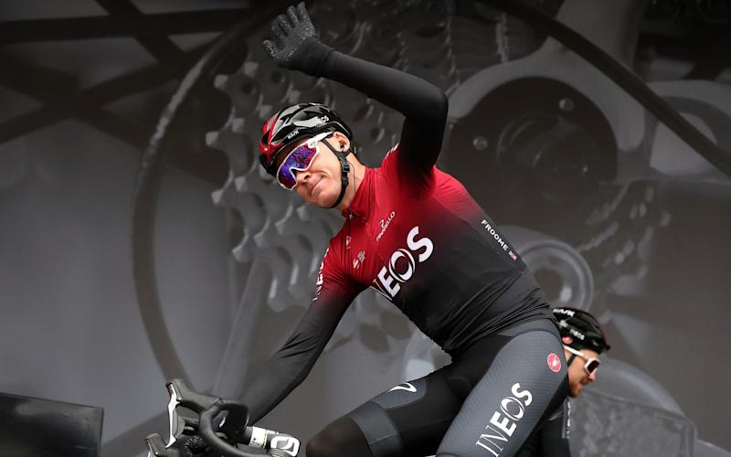 Chris Froome riding for Ineos - Chris Froome to leave Team Ineos at the end of the season - PA