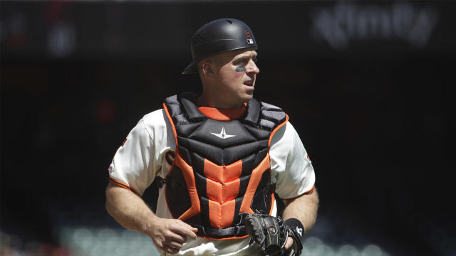 Three days after San Francisco designated the veteran catcher for assignment, the Giants traded the 38-year-old to the Tampa Bay Rays.