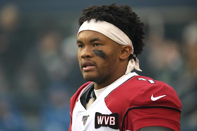 Even Kyler Murray was probably shocked to learn that DeAndre Hopkins was joining him in Arizona. (Photo by Abbie Parr/Getty Images)