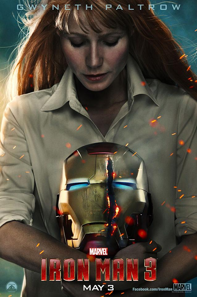 "Gwyneth Paltrow as Pepper Potts in Marvel Studios' ""Iron Man 3"" - 2013"