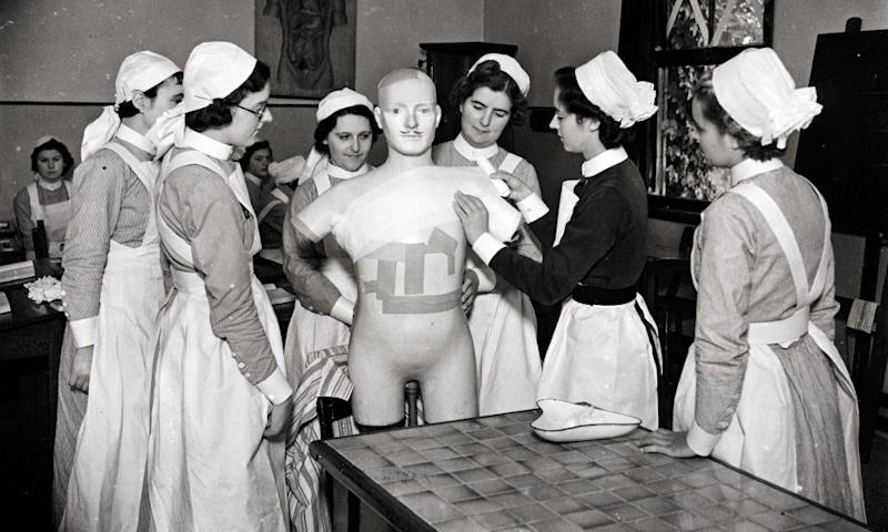 Student nurses at Atkinson Morley convalescent hospital in Copse Hill, south-west London
