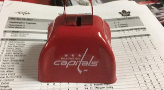 The cowbell handed out at the Verizon Center on Saturday. (@BonsieTweets)