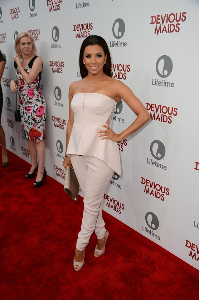 PACIFIC PALISADES, CA - JUNE 17:  Executive Producer Eva Longoria attends the premiere of Lifetime Original Series 'Devious Maids' at Bel-Air Bay Club on June 17, 2013 in Pacific Palisades, California.  (Photo by Mark Davis/Getty Images)