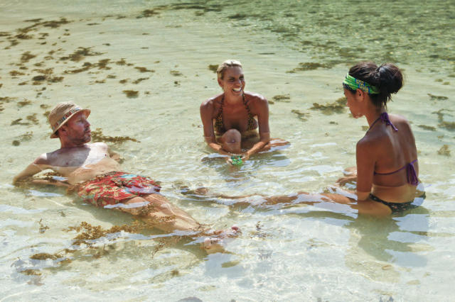 """Blindside Time"" - Michael Snow, Sherri Biethman and Brenda Lowe during the eighth episode of ""Survivor: Caramoan - Fans vs. Favorites."""