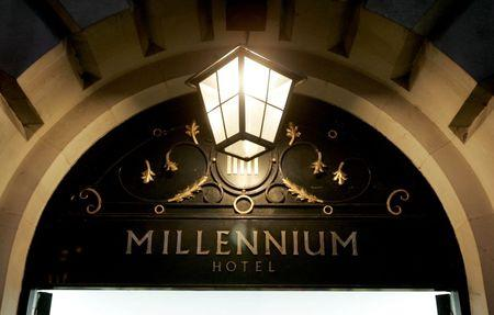 General view of the Millennium Hotel in central London where traces of polonium 210 were found