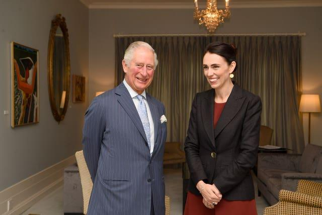 Jacinda Ardern and the Prince of Wales