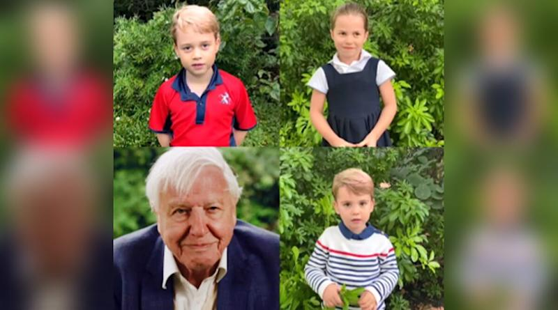 Prince Louis Heard Speaking For the First Time Alongside Siblings Prince George and Princess Charlotte; Little Royals Quiz Sir David Attenborough About Animals (Watch Adorable Video)
