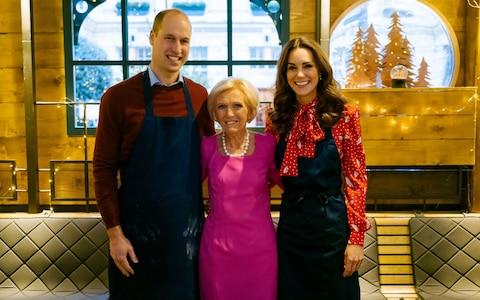 The Duke made the remarks in a BBC Christmas special as the Cambridges joined forces with Mary Berry - Credit: BBC/Shine TV/Kensington Palace/PA