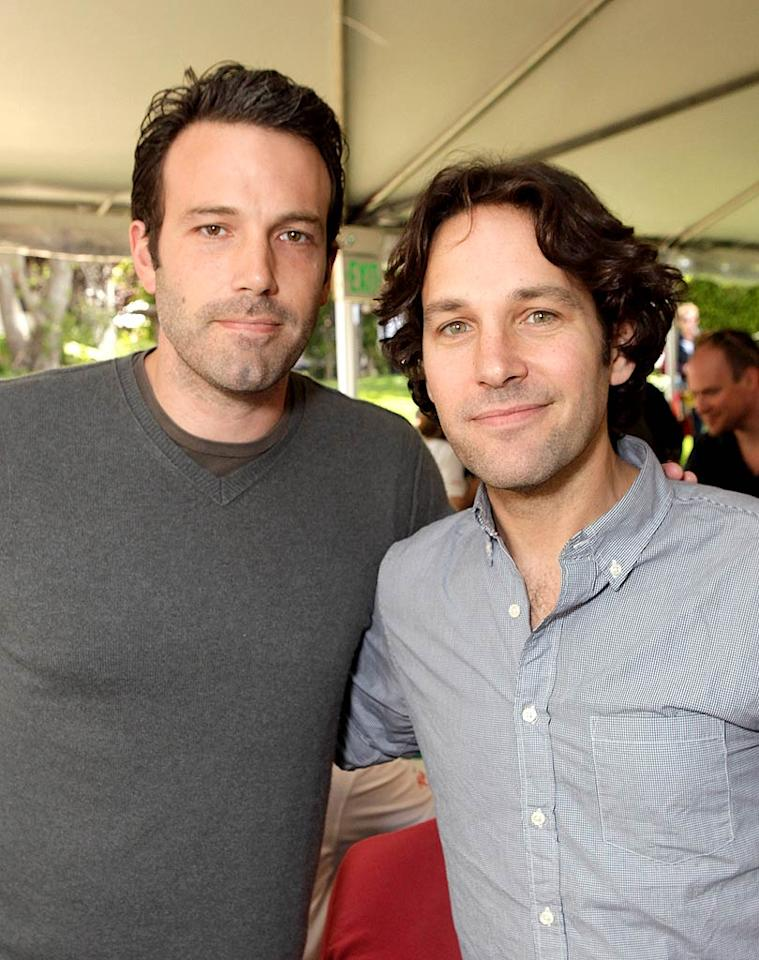 "Ben Affleck and Paul Rudd had a good reason for spending their Saturday playing poker in L.A. They were attending a ""Playing For Good"" charity event benefiting the Geffen Playhouse and Determined to Succeed, a non-profit organization which provides academic support to underprivileged kids. Todd Williamson/<a href=""http://www.wireimage.com"" target=""new"">WireImage.com</a> - May 21, 2011"