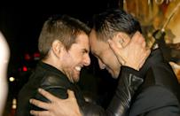 <p>This is how Tom Cruise greets his friends, like Ken Watanabe in L.A. </p>