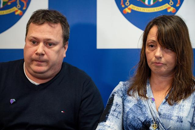 John and Claire Croucher appealed for information about missing daughter Leah a year after her disappearance. (Picture: PA)