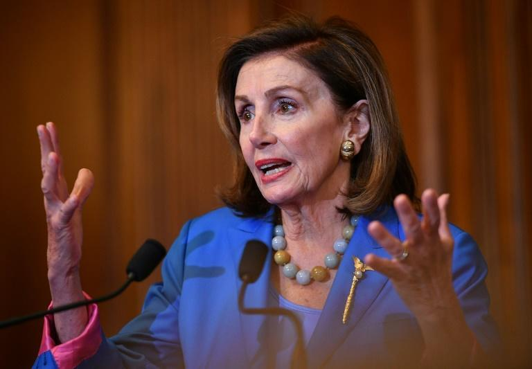 Speaker of the US House of Representatives Nancy Pelosi has another hard day ahead in trying to save President Joe Biden's domestic agenda (AFP/Mandel NGAN)