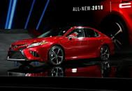 FILE PHOTO: The 2018 Camry XSE is introduced during the North American International Auto Show in Detroit, Michigan, U.S., January 9, 2017. REUTERS/Mark Blinch/File photo