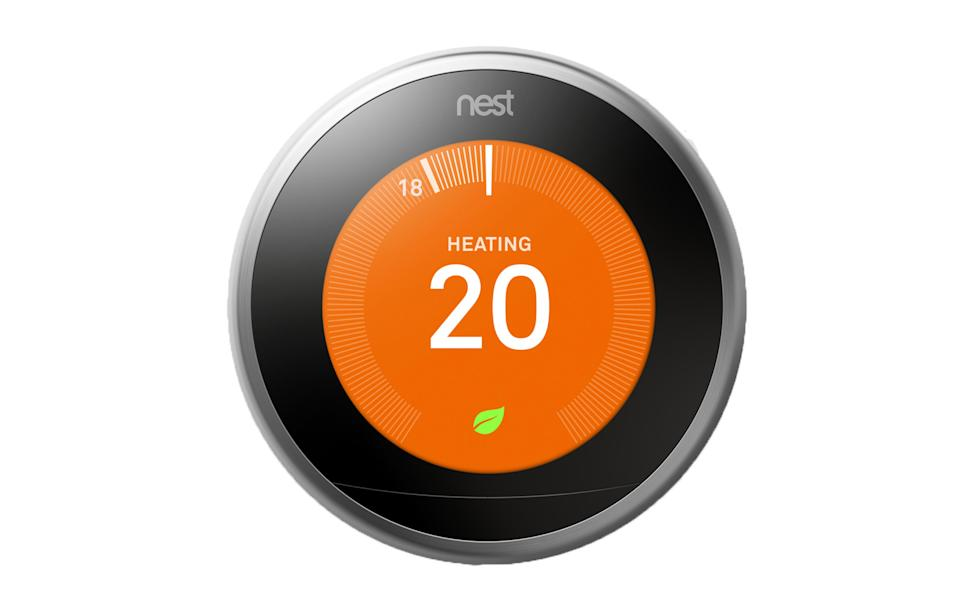 "<p><a href=""https://www.currys.co.uk/gbuk/smart-tech/smart-tech/smart-home/nest-learning-thermostat-3rd-generation-silver-10141089-pdt.html"" rel=""nofollow noopener"" target=""_blank"" data-ylk=""slk:Currys PC World, £199"" class=""link rapid-noclick-resp""><i>Currys PC World, £199</i></a><br><br></p>"