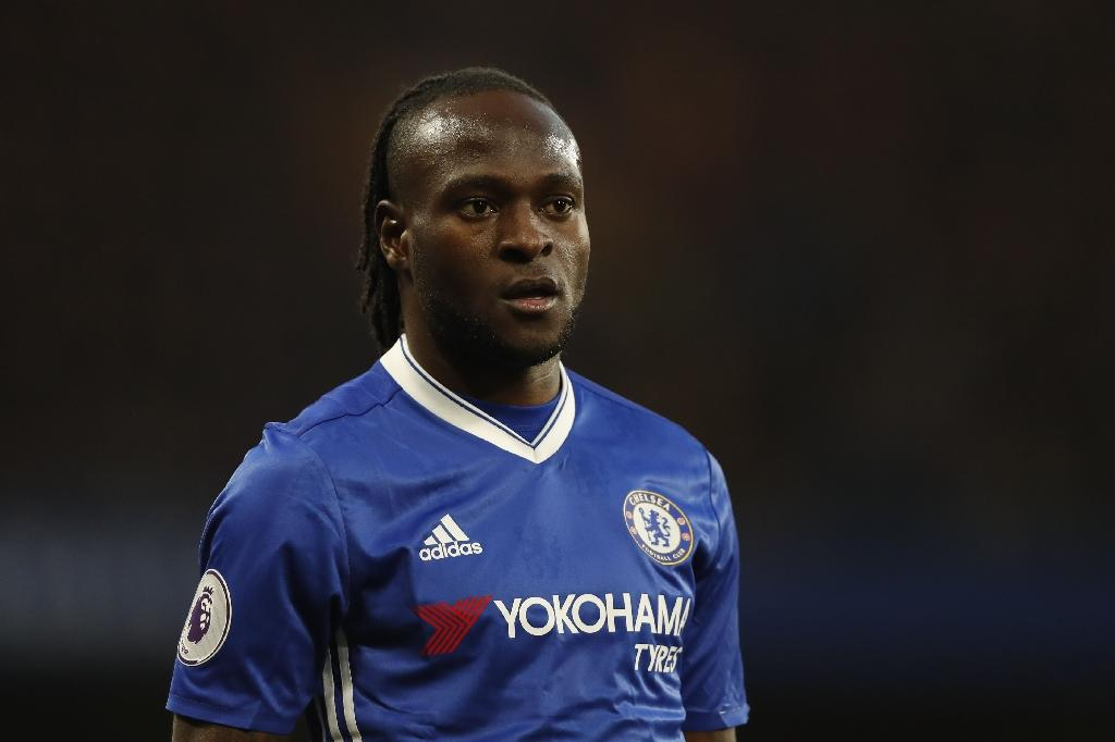 Chelsea's Nigerian midfielder Victor Moses will feature for the Super Eagles in World Cup qualifying (AFP Photo/Adrian DENNIS)