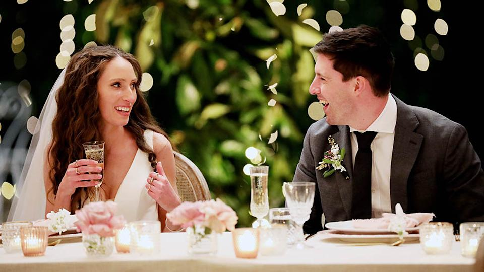 Married At First Sight's Patrick has revealed he believes claims his 'wife' Belinda dated a 73-year-old are false. Photo: Nine