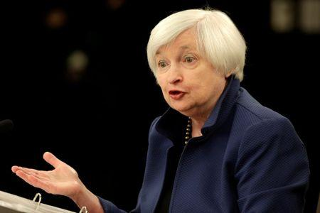 FILE PHOTO: Federal Reserve Chair Yellen speaks during a news conference in Washington