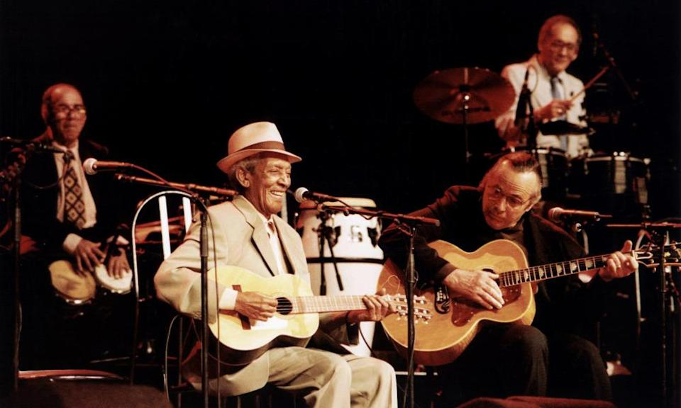 Compay Segundo and Ry Cooder in the Buena Vista Social Club