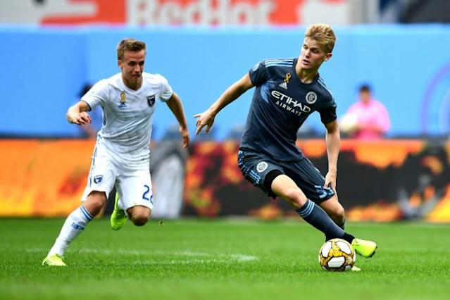 New York City FC's Keaton Parks scored his first Major League Soccer goal in his club's 2-1 win over the San Jose Earthquakes (AFP Photo/Emilee Chinn)