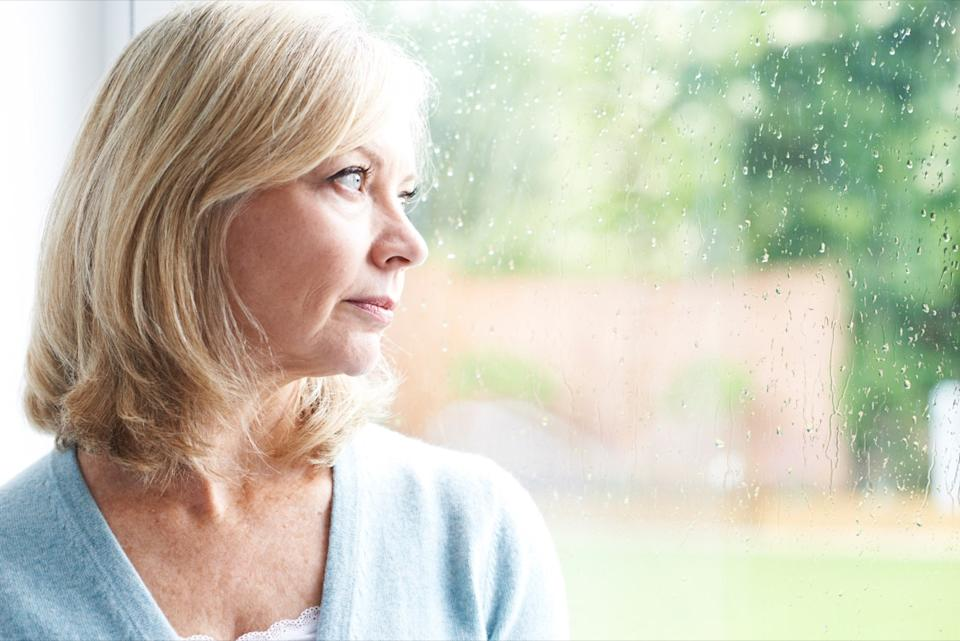 Sad Mature Woman Suffering