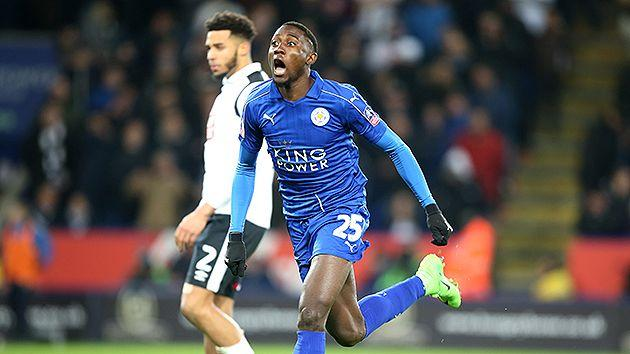 Ndidi's rocket put the Foxes 2-1 up on the night. Pic: Getty