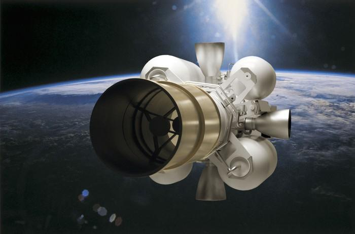 Raytheon's Exo-Atmosopheric Kill Vehicle pictured in space.